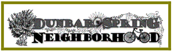 Dunbar/Spring Neighborhood logo